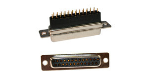 172 series d-sub high rise connector | 25 pin d-sub