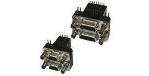 Micro-D Connector | Right Angle (Dual Port) PCB Mount | 380 Series