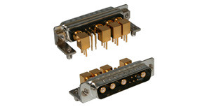 9w4 d-sub mixed layout connector | 685 Series Combo-D Connector