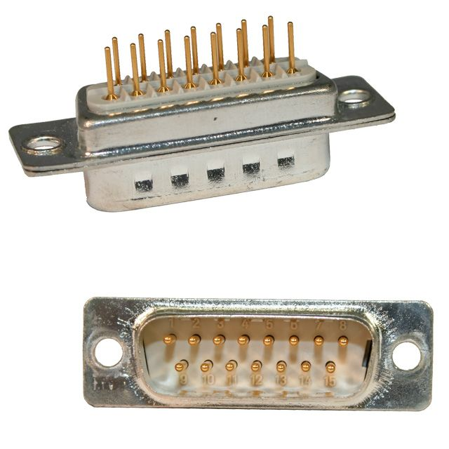 172 series d-sub vertical mount connector