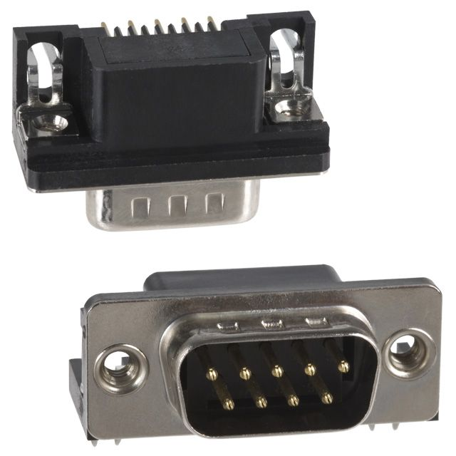 9 Pin D-Sub Connector Right Angle Male