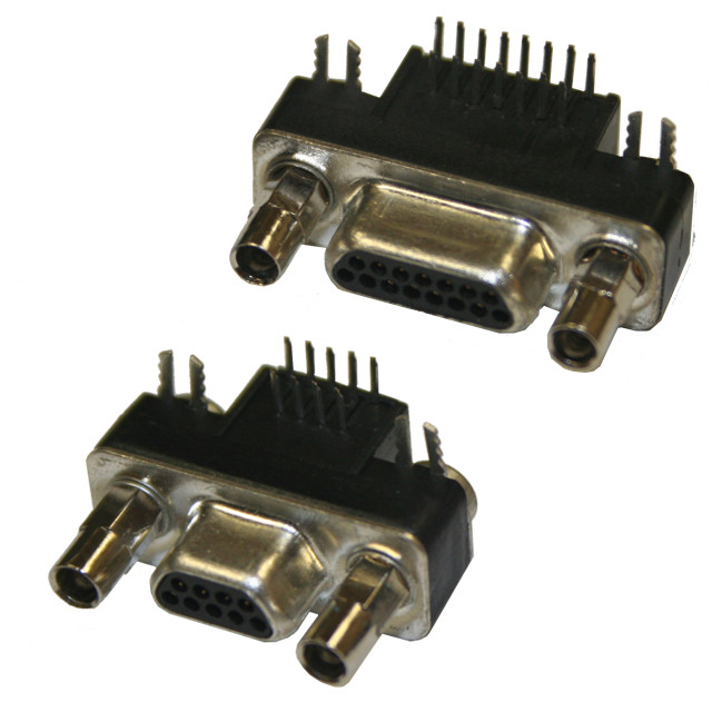 Micro D Connector Right Angle Pcb Mount 381 Series Norcomp